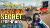 Cyberpunk 2077: Amazing SECRET Legendary GAS STATION! Filled With Weapons, Cyberware & More!