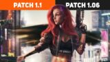 Cyberpunk 2077 Patch 1.1 vs 1.06 (Benchmark Test)
