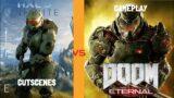 DOOM Eternal 2020 vs Halo Infinite 2021 Comparison | Cutscenes and Gameplay Direct Comparison