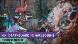 Deathguard vs Harlequins – Codex Debut – 2000pt Warhammer 40k battle report