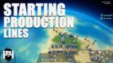 Dyson Sphere Program – STARTING PRODUCTION LINES – MEGABASE HERE I COME!
