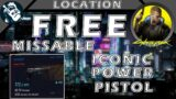 Free Missable Iconic Kongou Pistol in Cyberpunk 2077 Weapon Locations #3 – Prologue