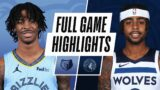 GRIZZLIES at TIMBERWOLVES | FULL GAME HIGHLIGHTS | December 12, 2020