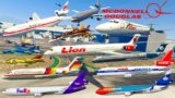 GTA V: Every McDonnell Douglas Airplanes Pack Stunning Landing Compilation