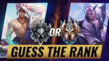 """GUESS THE RANK: """"Is He Challenger or Silver???"""" – League of Legends Season 10"""