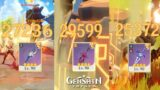 Genshin Impact – MC Geo 90 – The Flute – Festering Desire – Sacrificial Sword Damage Test