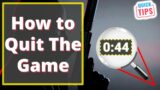 Hitman 3 – How To Quit The Game (Quick Tips)