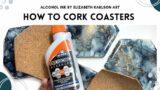 How to Cork & Add Backs to Coasters | Tutorial | Elizabeth Karlson Art