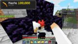 I secretly used Haste 100,000 in Minecraft Bedwars…