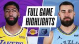 LOS ANGELES LAKERS at MEMPHIS GRIZZLIES | FULL GAME HIGHLIGHTS | JANUARY 5, 2021