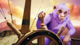 Monkey Sails The Seas on Sea of Thieves