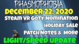 Phasmophobia Update December 22 – Game News: Lights, Speed, Sale, GOTY Nomination?!