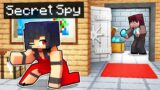 Playing as a SECRET SPY in Minecraft!