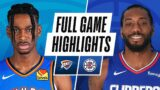 THUNDER at CLIPPERS | FULL GAME HIGHLIGHTS | January 22, 2021