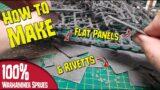Turn Warhammer 40k Sprues into Flat Panels
