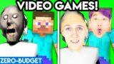 VIDEO GAMES WITH ZERO BUDGET! (Minecraft, Piggy, Granny, Among Us, FNAF, Hello Neighbor – LANKYBOX!)