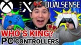 XBOX SERIES X CONTROLLER vs PS5 CONTROLLER for PC! Xbox series X controller vs  Dualsense controller