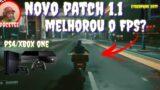 cyberpunk 2077 novo patch 1.1 para PS4/Xbox one melhorou o FPS?