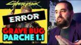el PARCHE 1.1 de Cyberpunk 2077 incluye un GRAVE BUG que provoca que NO PUEDAS AVANZAR en el JUEGO