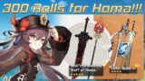 300 Rolls for Staff of Homa!!!   Genshin Impact