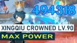 Crowned Xingqiu.EXE DPS MAX constellations Festering Desire 490K dmg – genshin Impact Showcase