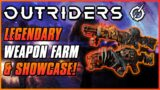 EASIEST LEGENDARY FARM & WEAPON SHOWCASE!   Outriders Demo   Legendary Weapon Gameplay