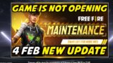 Free Fire 4th February All New Update, Game is Not Opening – Garena Free Fire 2021