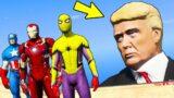 GTA 5 Crazy Ragdolls SPIDERMAN IRON MAN CAPTAIN AMERICA vs DONALD TRUMP (GTA V Funny Moments/Fails)