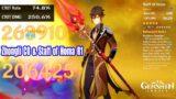 Genshin Impact – Staff of Homa R1 & Zhongli C0 Damage Show – 250% Crit DMG OneShot Dvalin