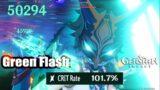 Genshin Impact – Xiao C6 100% Crit Rate Showcase Gameplay – The Green Flash