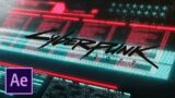 How to Make Cyberpunk 2077 Main Menu In Adobe After Effects Tutorial