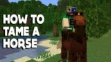 Minecraft #shorts :: How to TAME a HORSE in 1.16.3