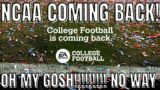 NCAA FOOTBALL IS CONFIRMED COMING BACK! EA Sports College Football NCAA