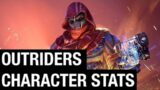 Outriders Character Stats | Brief Description of Possible Character Stats