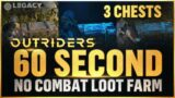 Outriders – INSANE 60 Second Legendary Weapon Farm (3 Loot Chests) | No Combat Required