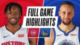 PISTONS at WARRIORS | FULL GAME HIGHLIGHTS | January 30, 2021