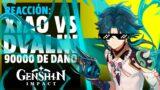 Reaccionando a Xiao vs Dvalin haciendo 90k con Habilidad elemental | Genshin Impact