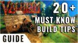 Valheim Gameplay 20+ Top Building Tips