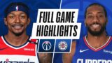 WIZARDS at CLIPPERS   FULL GAME HIGHLIGHTS   February 23, 2021