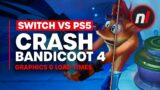 Crash Bandicoot 4 Graphics & Load Time Comparison – Switch vs PlayStation 5