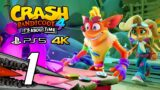 Crash Bandicoot 4: It's About Time (PS5) Gameplay Walkthrough Part 1 – No Commentary, 4K