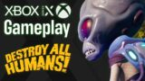 Destroy All Humans! Xbox Series X Gameplay [XSX patch]