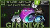 Geforce Now News – 12 Games Added This Week – Day & Date Releases – New Game Sales Highlighted