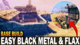 How To Get Easy Flax & Black Metal With This Plains Base Build! – Valheim Tips And Tricks