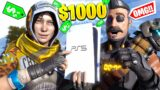 I Gave A RANDOM FAN A $1000 PLAYSTATION 5 And We PLAYED TOGETHER! (Apex Legends Season 8)
