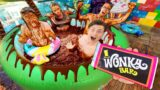 LAST TO LEAVE CHOCOLATE HOT TUB WINS PS5!!