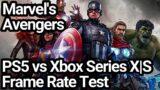 Marvel's Avengers PS5 vs Xbox Series X vs Xbox Series S Frame Rate Comparison