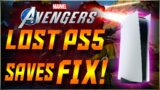 Marvels Avengers – WATCH THIS NOW – PS4 to PS5 Save Data Missing!! How To FIX It!!