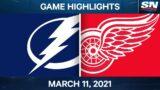 NHL Game Highlights | Lightning vs. Red Wings – Mar. 11, 2021