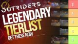 OUTRIDERS – DEMO LEGENDARY WEAPONS TIERLIST – Theorycraft (GET THESE GUNS BEFORE APRIL 1ST)